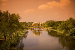 ALTE STADT THAILANDS BANGKOK SAMUT PRAKAN Stockfotos