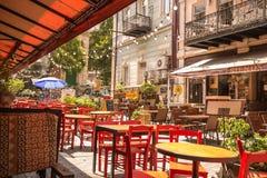 Alte Stadt Tifliss auf einem faulen Sonntag Morgen Stockfotos
