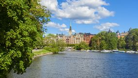 Alte Stadt-tipycal Ansicht in Stockholm stockfoto