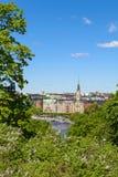 Alte Stadt-tipycal Ansicht in Stockholm stockbilder