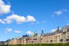 Alte Stadt-tipycal Gebäude in Stockholm lizenzfreies stockbild