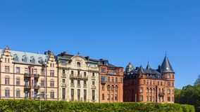 Alte Stadt-tipycal Gebäude in Stockholm lizenzfreie stockfotografie