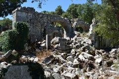 Alte Stadt-Tor von Termessos Stockfotografie