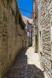 Alte Stadt Trogir, Kroatien - 19. Juli 2017 Lizenzfreies Stockbild