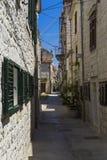 Alte Stadt Trogir, Kroatien - 19. Juli 2017 Stockfotos