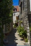 Alte Stadt Trogir, Kroatien - 19. Juli 2017 Lizenzfreie Stockfotos