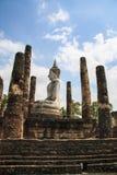 Alte Stadt und Buddha-Statue Lizenzfreies Stockfoto