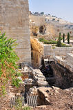 Altes Jerusalem der Tempelberg Stockbild