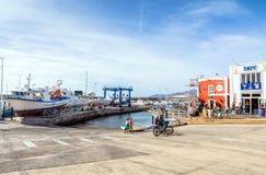 Alte Stadt und Hafen in Puerto Del Carmen, Lanzarote, Spanien Lizenzfreies Stockfoto