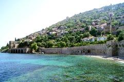 Alte Stadt und junges Meer Stockfoto