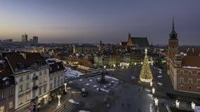Alte Stadt und königliches Schloss in Warschau stock footage