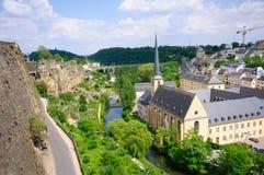 Alte Stadt und Verstärkungen in der Stadt von Luxemburg Lizenzfreies Stockbild