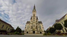 Alte Stadt in Ungarn stock video