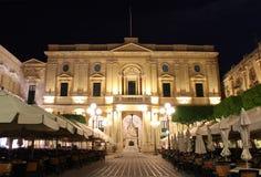 Alte Stadt Vallettas nachts Lizenzfreie Stockbilder