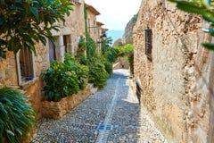 Alte Stadt Vila Vella Tossa de Mars in Costa Brava Lizenzfreies Stockfoto