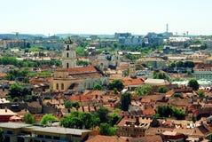 Alte Stadt Vilnius - UNESCO-Erbgegenstandansicht Lizenzfreie Stockfotografie