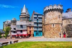 Alte Stadt Vitre, Bretagne, Frankreich stockbild