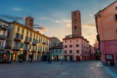 Alte Stadt von alba, Italien Stockfotos