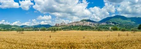 Alte Stadt von Assisi, Umbrien, Italien Lizenzfreie Stockfotografie