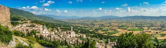 Alte Stadt von Assisi, Umbrien, Italien Lizenzfreies Stockbild
