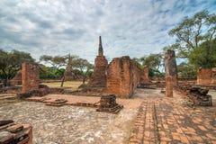 Alte Stadt von Ayutthaya, Thailand (Wat Phra Sri Sanpetch) stockfoto