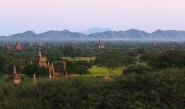 Alte Stadt von Bagan auf Myanmar Stockbilder