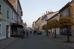 Alte Stadt von Banska Bystrica, Mittel-Slowakei stockfoto
