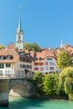 Alte Stadt von Bern-und Aare Fluss Lizenzfreies Stockfoto