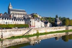 Alte Stadt von Blois, Frankreich Stockbild