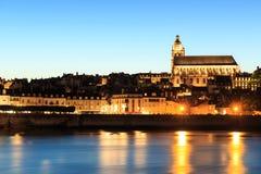 Alte Stadt von Blois im Loire Valley Lizenzfreie Stockbilder