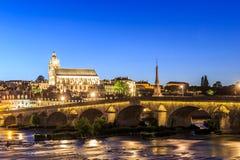 Alte Stadt von Blois im Loire Valley Stockfotos