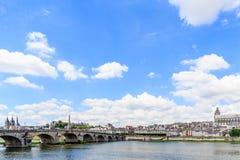 Alte Stadt von Blois im Loire Valley Stockfotografie