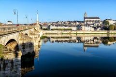 Alte Stadt von Blois im Loire Valley Stockbilder
