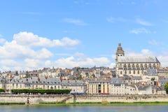 Alte Stadt von Blois im Loire Valley Stockbild