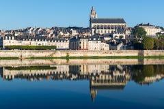 Alte Stadt von Blois im Loire Valley, Frankreich Lizenzfreie Stockbilder