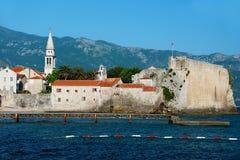 Alte Stadt von Budva, Montenegro auf adriatischer Küste Lizenzfreie Stockfotografie