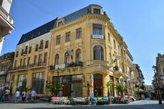 Alte Stadt von Bukarest, Lipscani-Bezirk Lizenzfreies Stockbild