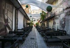 Alte Stadt von Bukarest, Lipscani-Bezirk Lizenzfreies Stockfoto