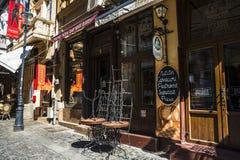 Alte Stadt von Bukarest, Lipscani-Bezirk Stockfotografie