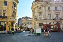 Alte Stadt von Bukarest, Lipscani-Bezirk Stockbild