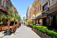 Alte Stadt von Bukarest, Rumänien Stockfotos