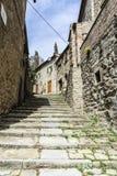 Alte Stadt von Cortona Toskana Stockbild