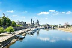 Alte Stadt von Dresden Stockbild