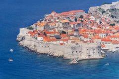 Alte Stadt von Dubrovnik, adriatisches Meer, Dalmatien Region, Kroatien, E Stockfoto