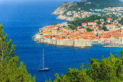 Alte Stadt von Dubrovnik, adriatisches Meer, Dalmatien Region, Kroatien, E Lizenzfreies Stockfoto