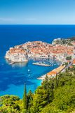Alte Stadt von Dubrovnik im Sommer, Dalmatien, Kroatien lizenzfreies stockfoto