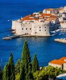 Alte Stadt von Dubrovnik in Kroatien Stockfotografie