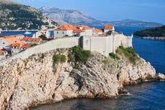 Alte Stadt von Dubrovnik in Kroatien Stockfotos