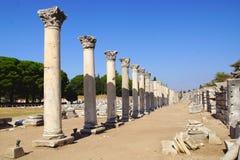 Alte Stadt von Ephesus, die Türkei Stockbild