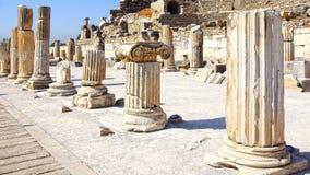 Alte Stadt von Ephesus, die Türkei Stockfotos